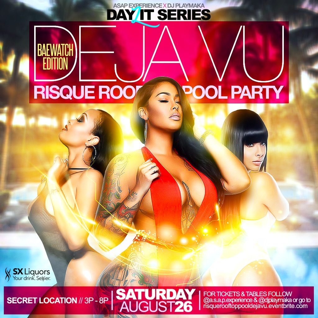 RISQUE ROOFTOP POOL DAY PARTY DEJA VU EDITION