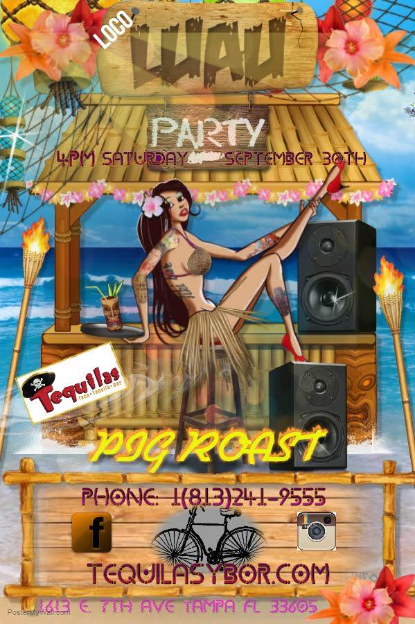 Loco Luau Party at Tequilas