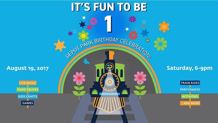 Depot Park Birthday Celebration - It's Fun To Be One!