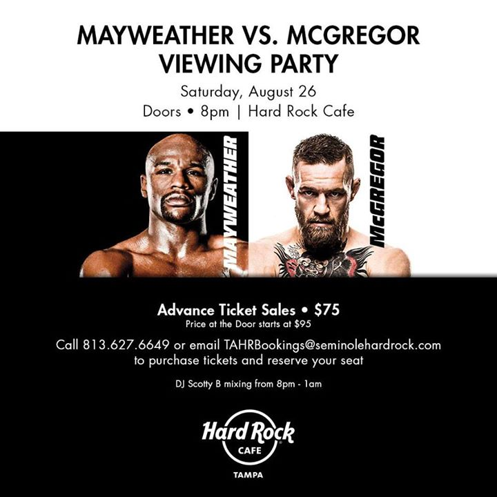 Mayweather vs. McGregor Viewing Party at Hard Rock