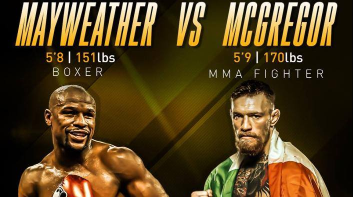 Mayweather VS Mcgregor at Peabody's