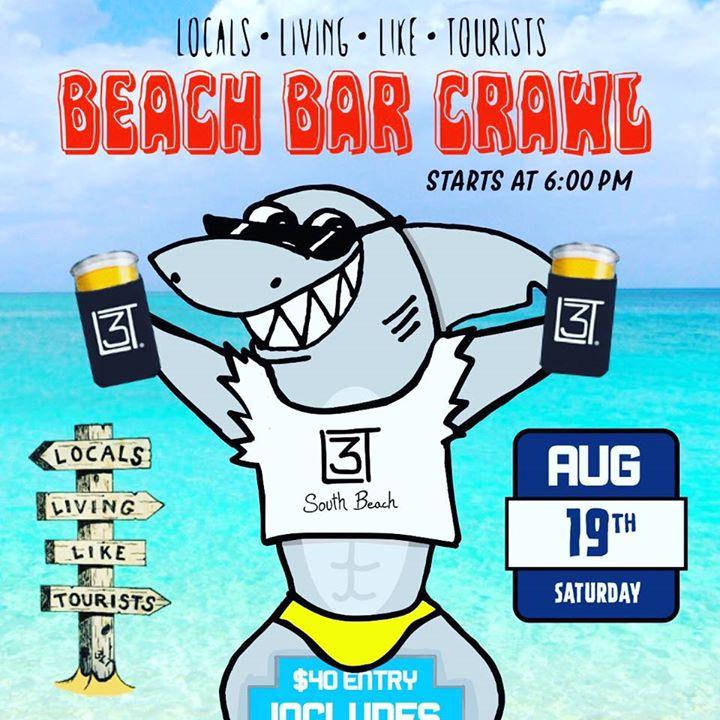 3LT Clearwater South Beach Bar Crawl - Aug 19th Saturday