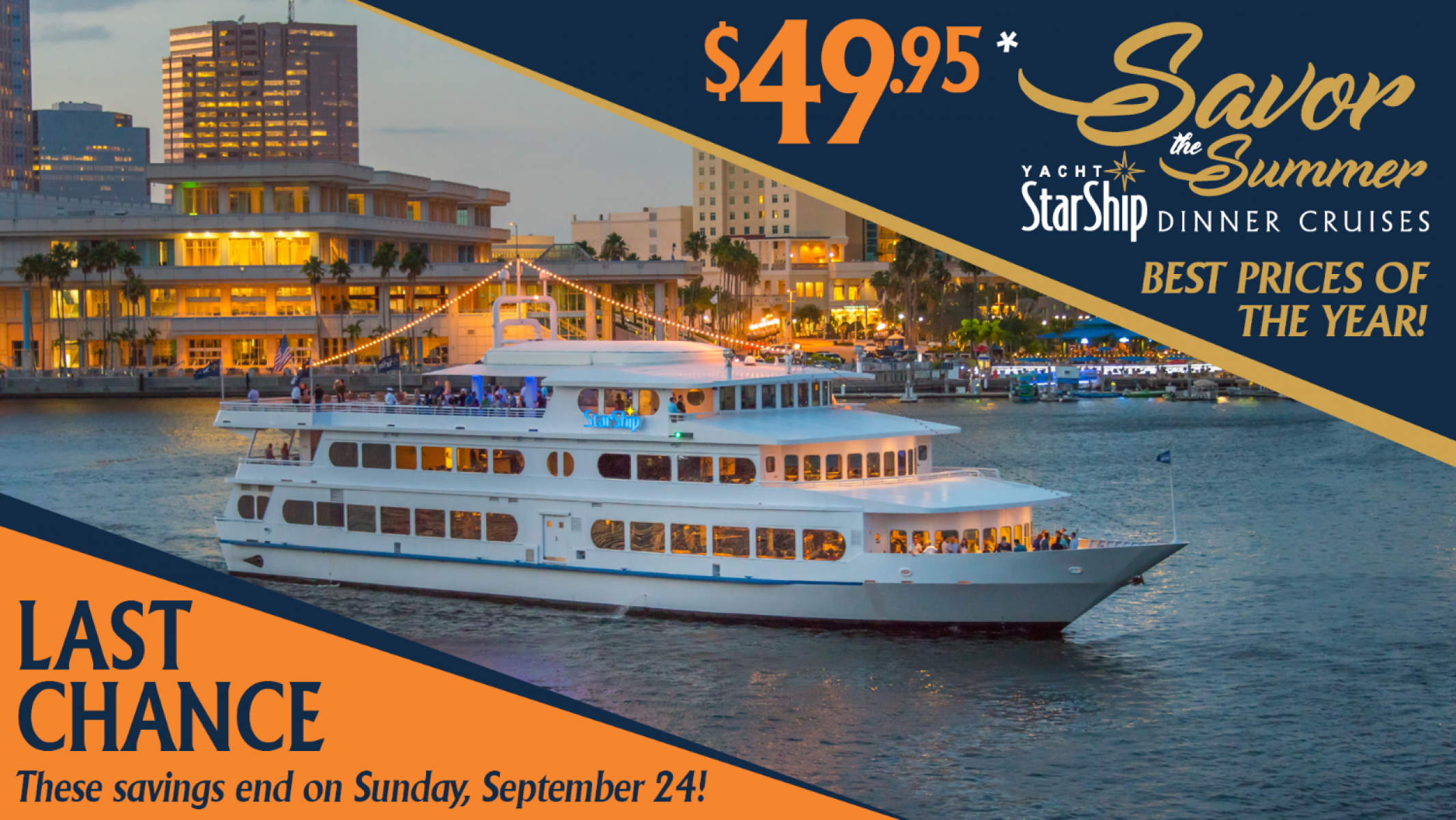 Savor the Summer Dinner Cruises