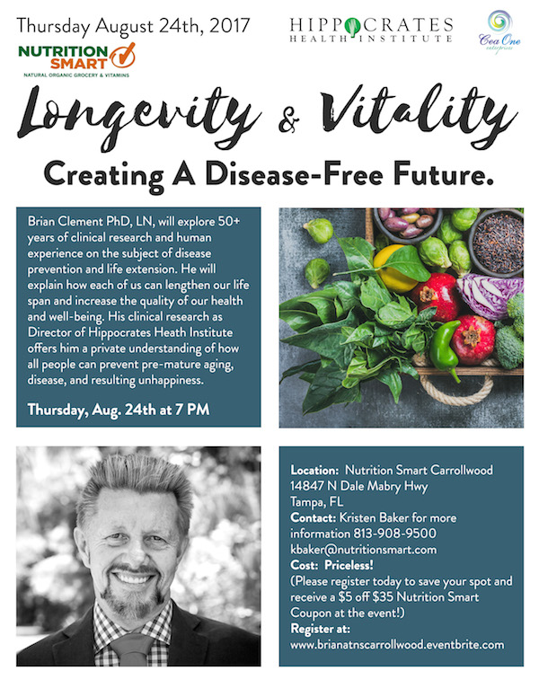 Longevity and Vitality: Creating a Disease Free Future