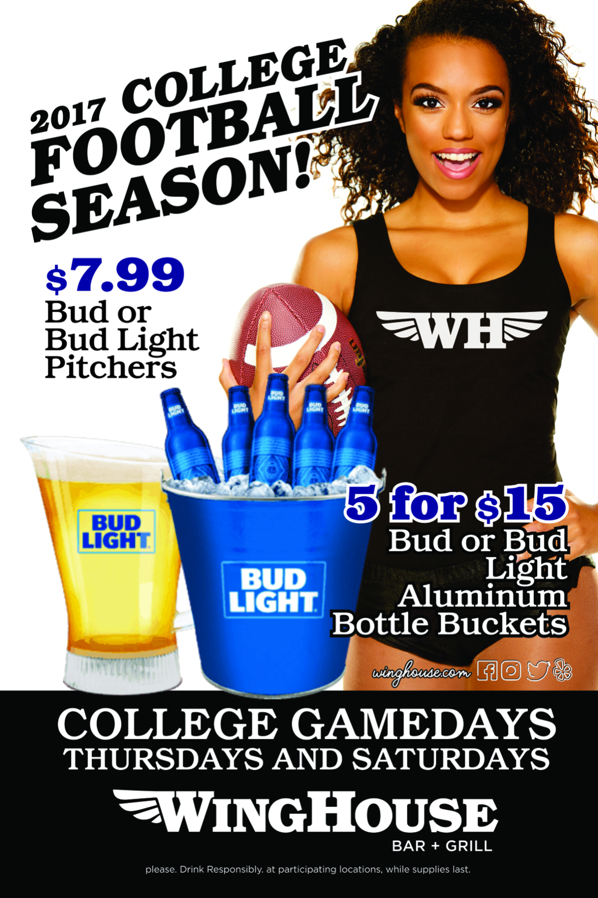 Celebrate College Football Game Days at The WingHouse Bar + Grill