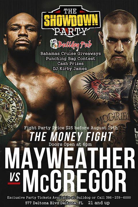 Mayweather vs McGregor The Showdown Party