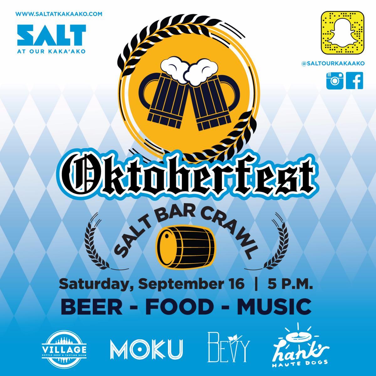 SALT Bar Crawl – Oktoberfest