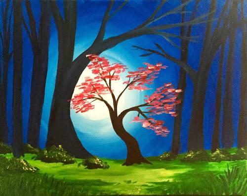 Wine & Canvas: Night Blossoms