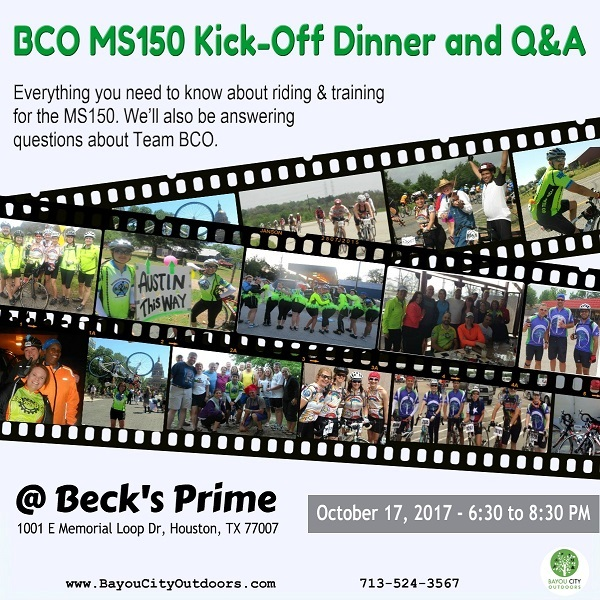 BCO MS150 Kick-Off Dinner and Q&A