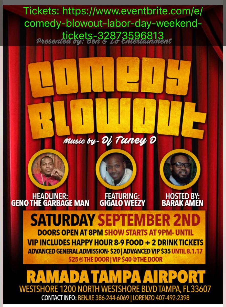 Comedy Blowout Labor Day Weekend