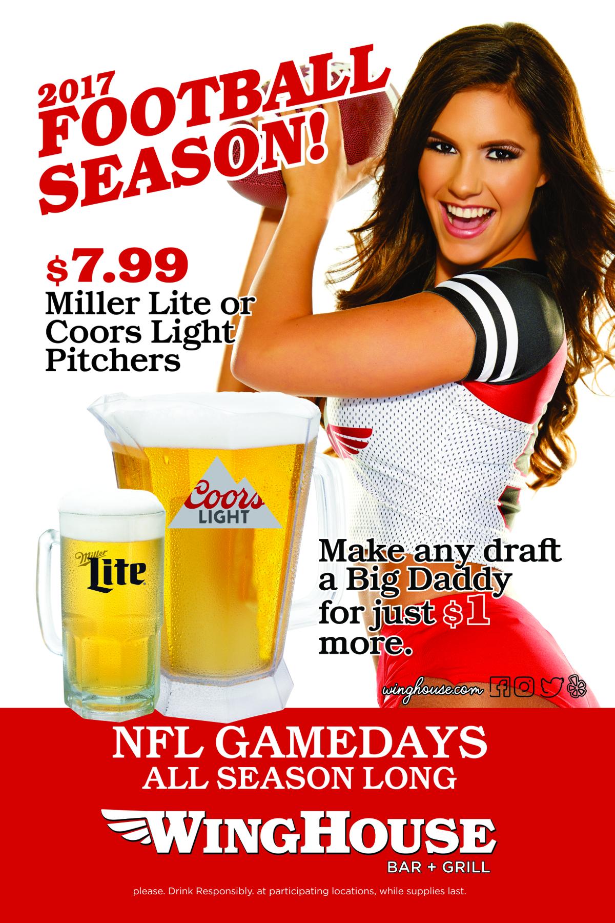 Kickoff The NFL Season At WingHouse