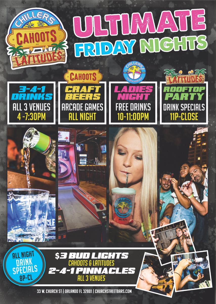 Ultimate Friday Nights | Chillers - Cahoots - Latitudes