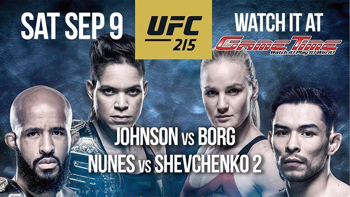Watch UFC 215 at GameTime!
