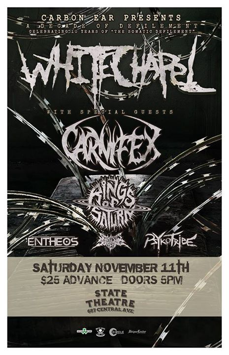 Whitechapel, Carnifex, Rings Of Saturn, more