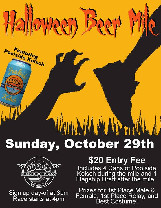 Halloween BEER MILE at JDub's Brewing Co.