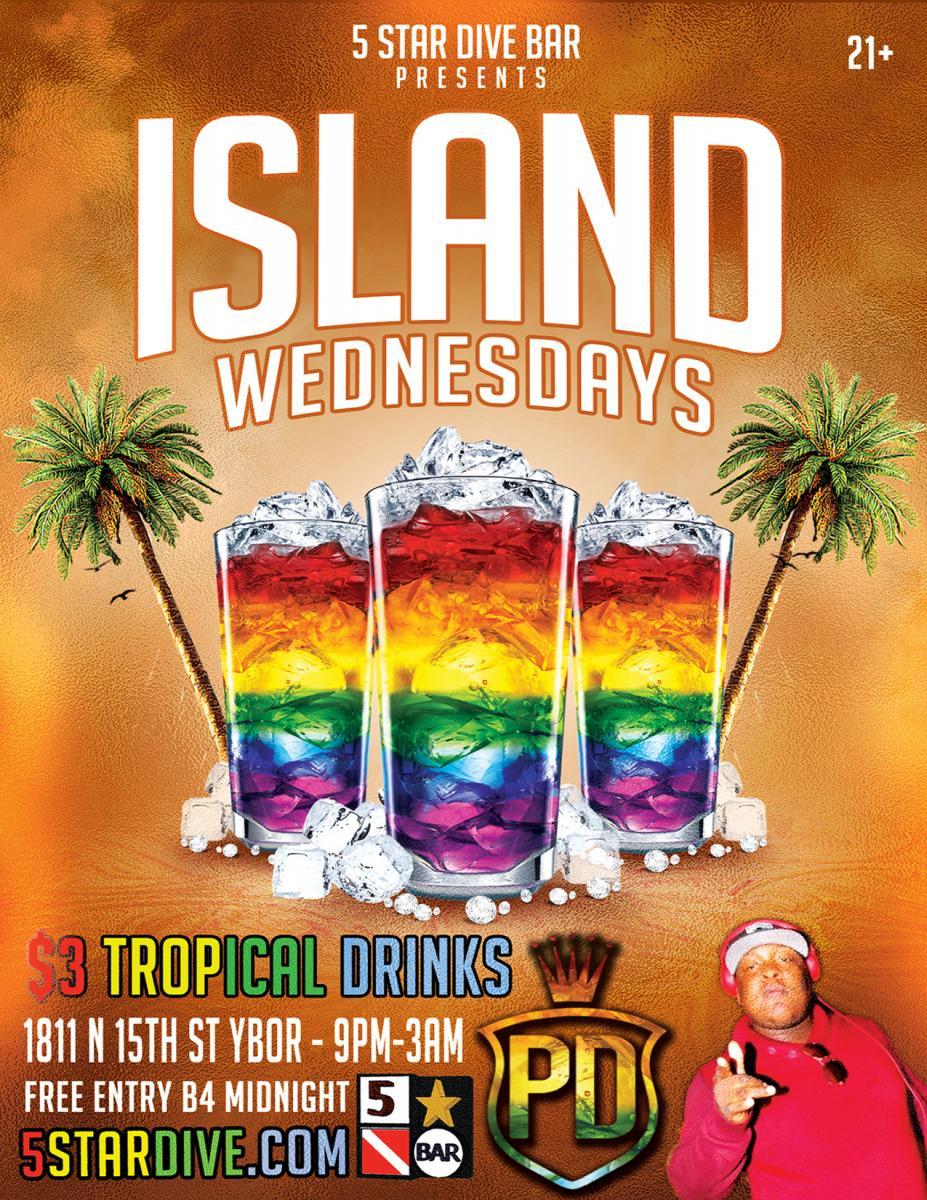 Island Wednesdays at 5 Star Dive Bar