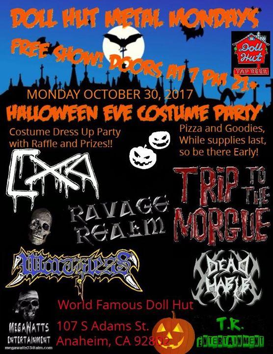 Doll Hut Metal Mondays Halloween Eve Costume Party!