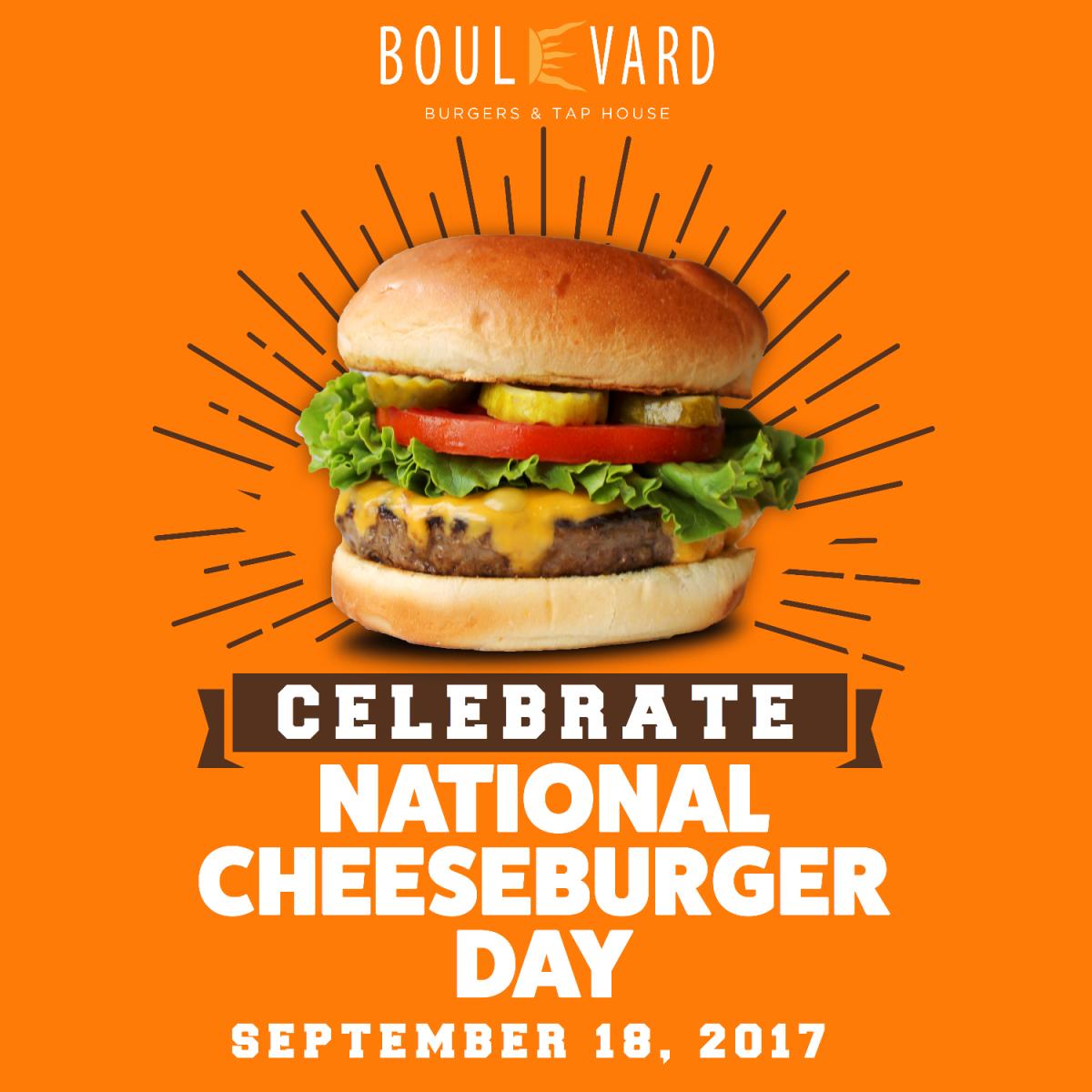 National Cheeseburger Day at Boulevard Burgers
