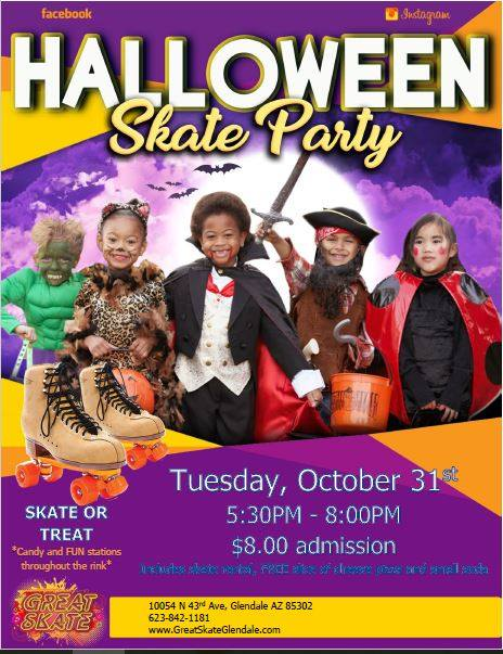 Skate or Treat Halloween Party
