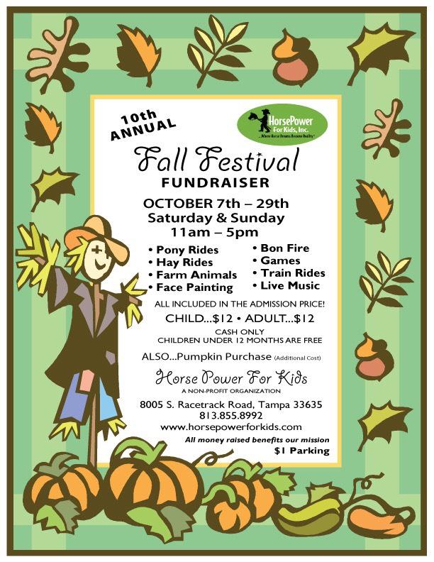 10th Annual Fall festival fundraiser