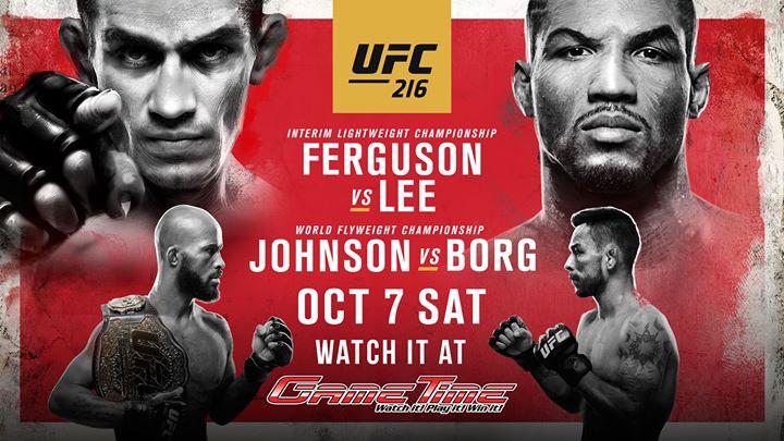 Watch UFC 216 at GameTime!