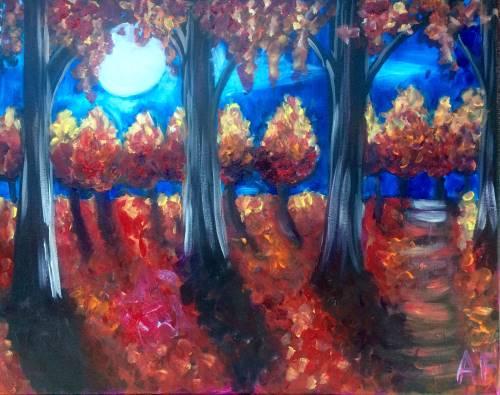 Wine & Canvas: Fall Midnight