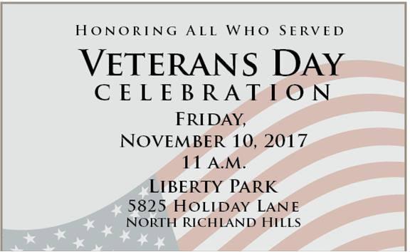 NRH Veterans Day Celebration