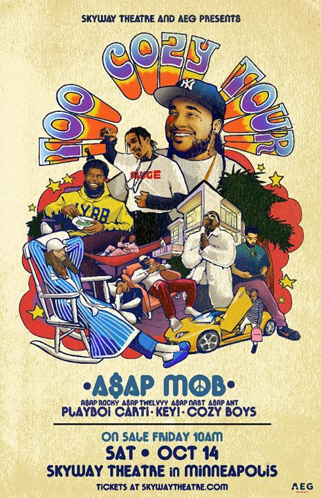 A$AP Mob - Too Cozy Tour - Skyway Theatre