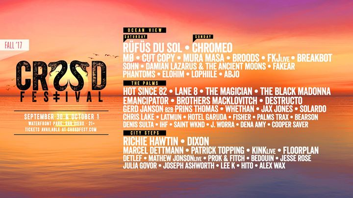 CRSSD ‡ Festival FALL '17: SEP 30 + OCT 1 at Waterfront Park