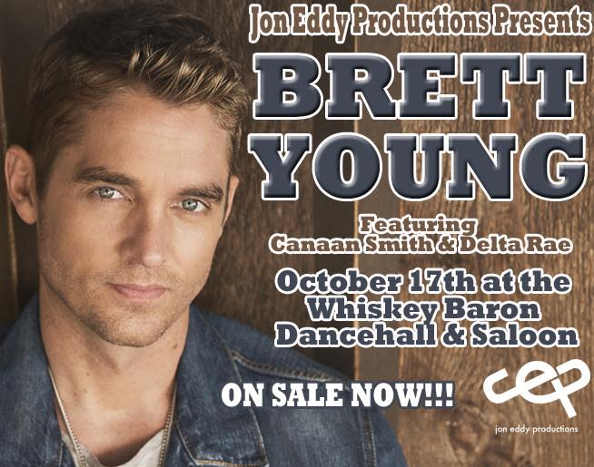 Brett Young at the Whiskey Baron Dancehall & Saloon