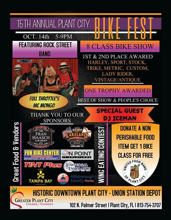 Plant City Bike Fest - October 14th