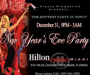 New Year's Eve Party 2018 at Hilton Miami, Miami FL - Dec ...