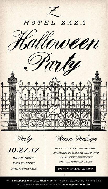 Halloween Party at Hotel ZaZa Dallas