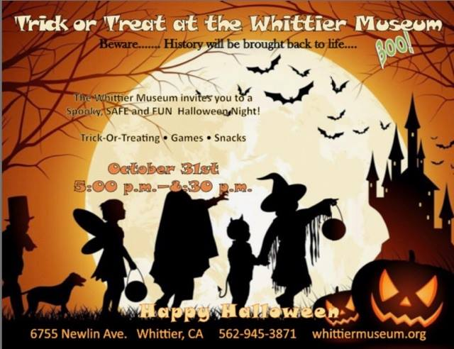 Trick-or-Treat at the Whittier Museum