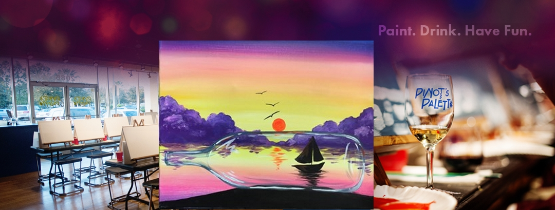 Ship in a bottle pinot 39 s palette paint and sip for Wine and paint st louis