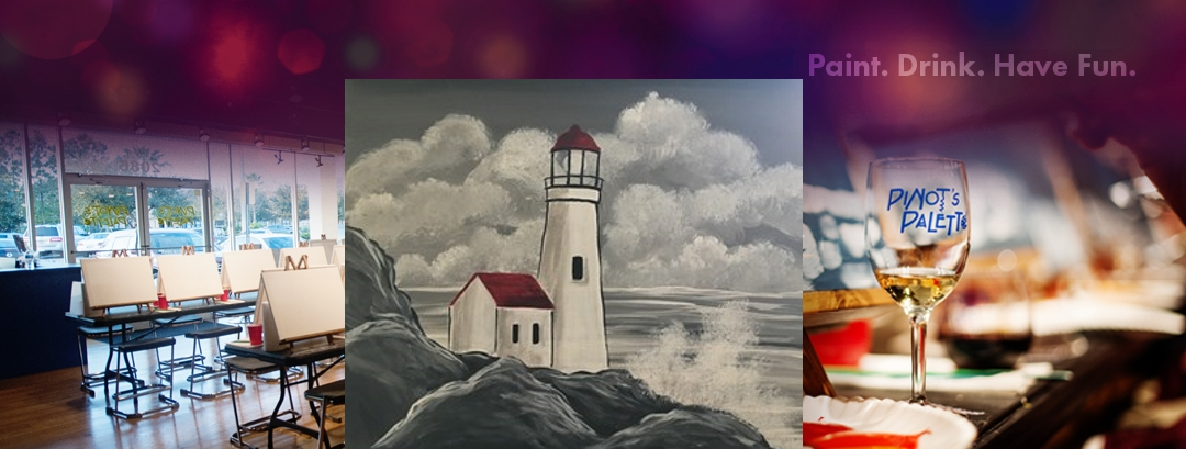 Illuminating Lighthouse - Pinot's Palette Paint and Sip