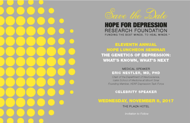Hope For Depression Research Foundation's 11th Annual HOPE Luncheon