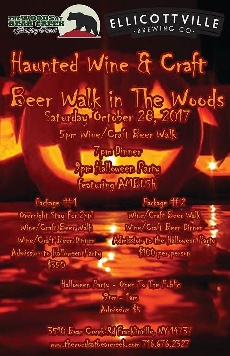 Haunted Wine & Craft Beer Walk in the Woods
