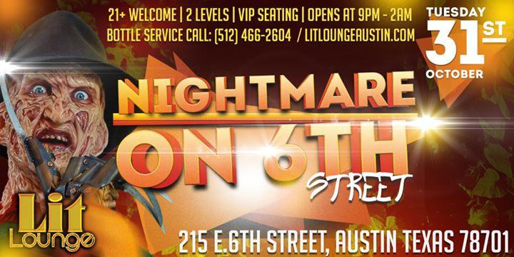 Nightmare on 6TH Street Austin Texas Lit Lounge