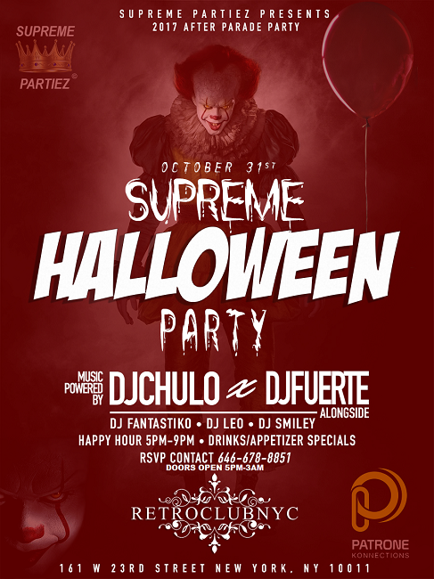 2017 OFFICIAL HALLOWEEN PARADE AFTERPARTY @RETROCLUB NYC OCT 31st