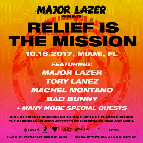 Relief is the Mission: Major Lazer & Friends