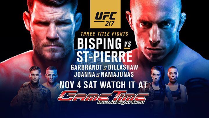 Watch UFC 217 at GameTime!