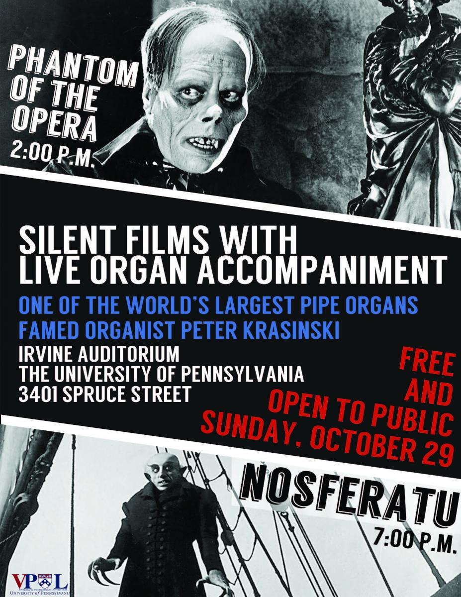 Phantom of the Opera Silent Flim with live organ