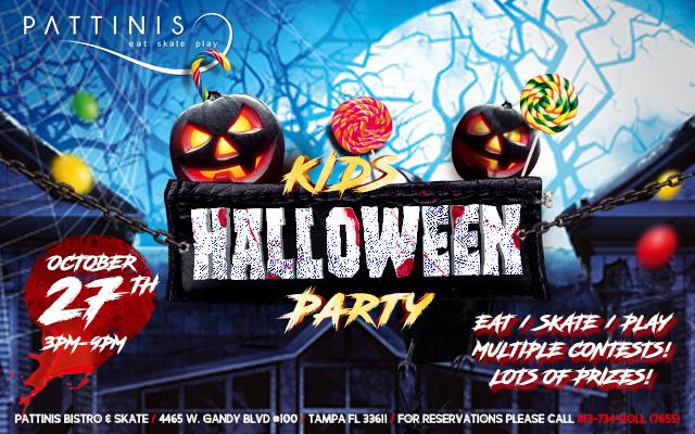 Kids Halloween Party at Pattinis