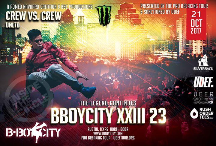 BBoy City XXIII (23) Pro Breaking Tour CREW VS. CREW UNLTD 2017