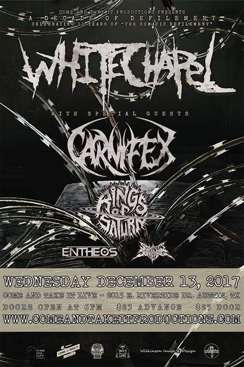 Whitechapel, Carnifex, Rings of Saturn, Entheos and more!