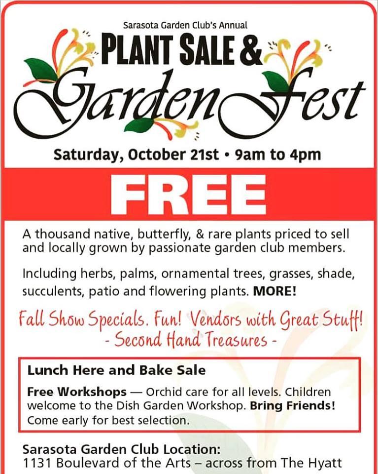 Sarasota Garden Club's Annual Plant Sale & Garden Fest