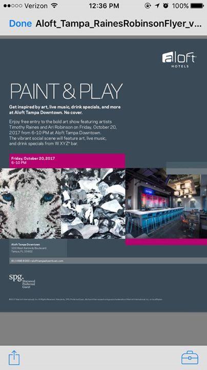 Aloft Art Show - Featuring: Ari Robinson & Timothy Raines