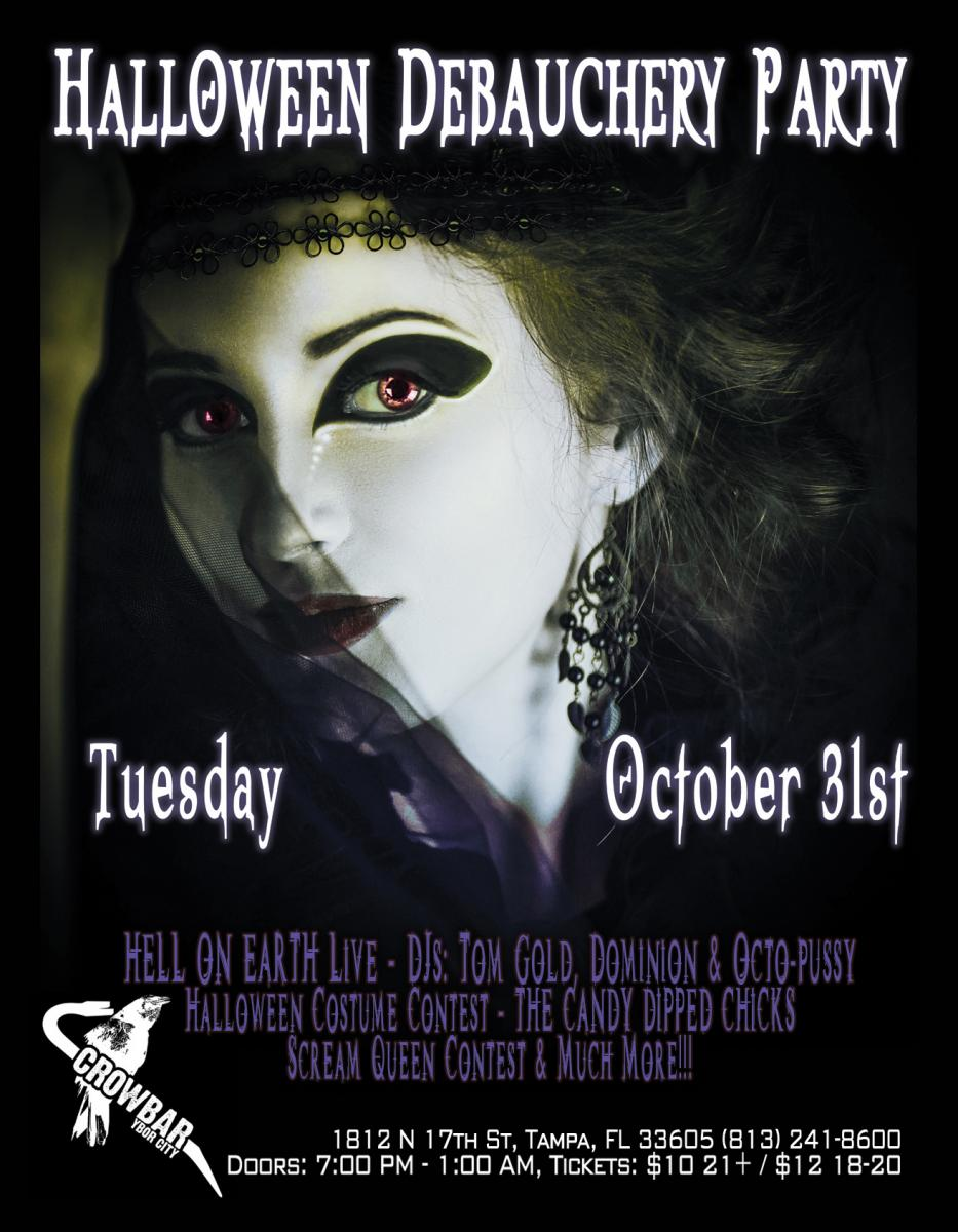 THE CROWBAR HALLOWEEN COSTUME PARTY