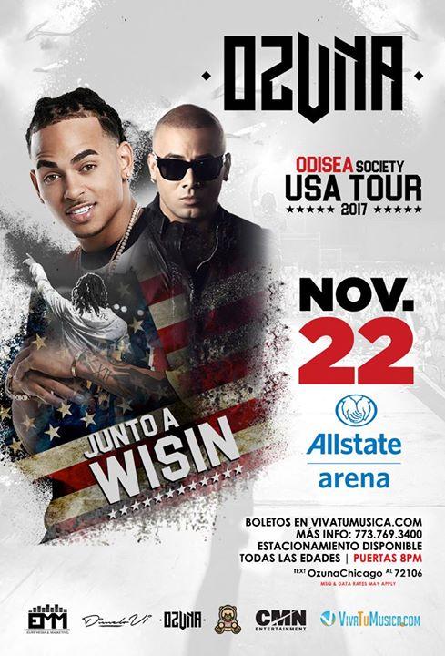 "Ozuna ""Odisea Society Tour"" with Wisin – Allstate Arena"